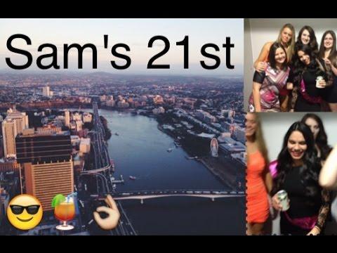 Samantha's 21st on the 74th floor!