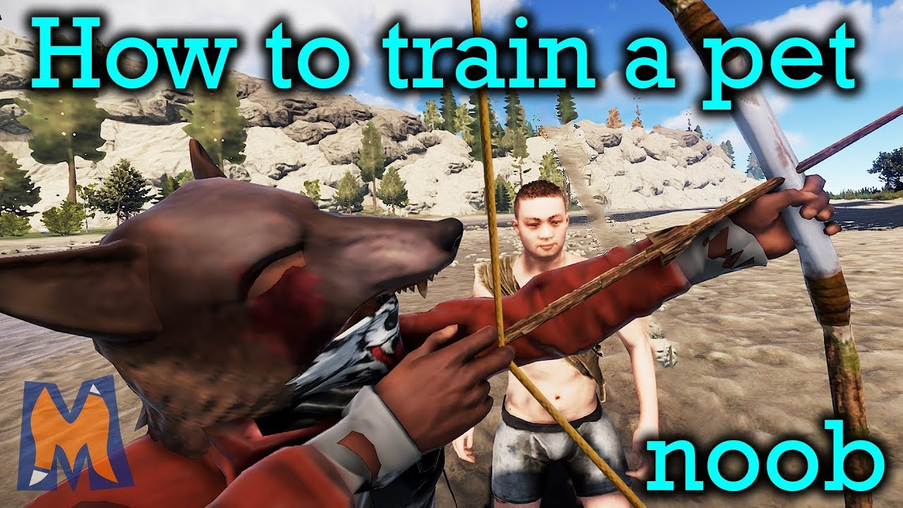 How To Train A Pet Noob | Rust Vanilla Duo survival gameplay Ep 1?