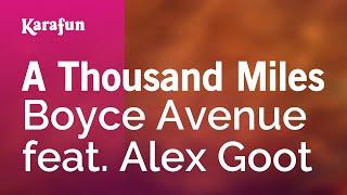Karaoke A Thousand Miles - Boyce Avenue *