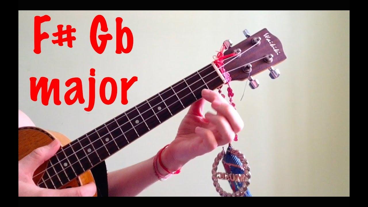f gb major ukulele chords youtube