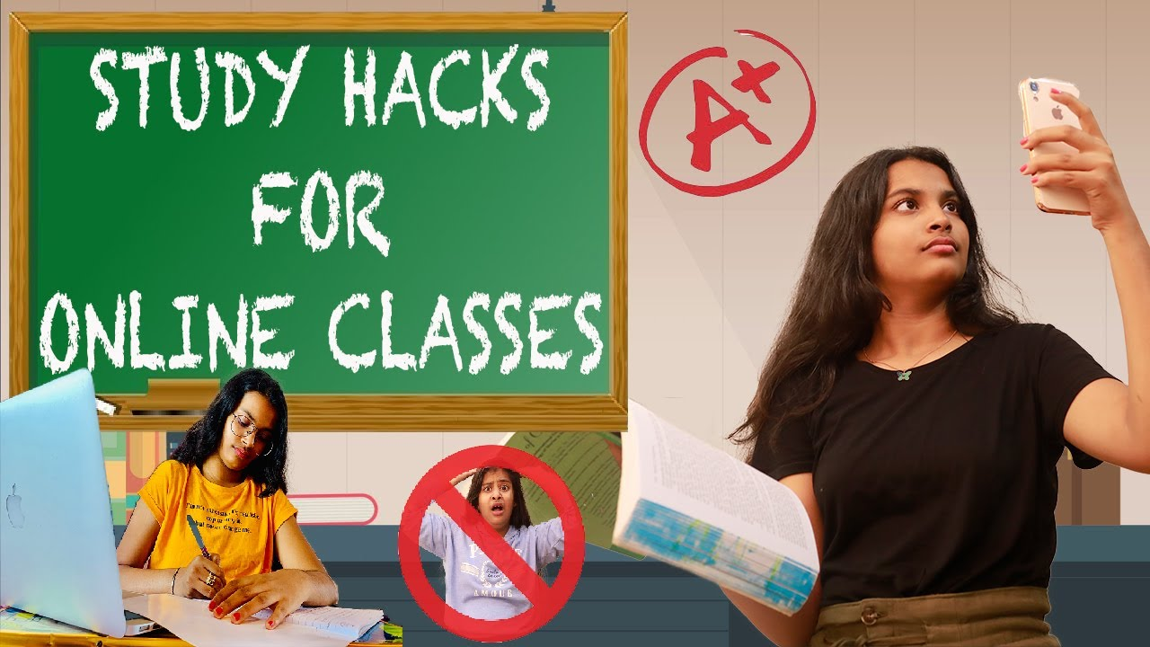 ONLINE CLASSES STUDY HACKS l Comedy Video l Types Of Student l Ayu And Anu Twin Sisters
