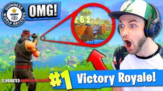 *NEW* RECORD BREAKING SNIPE in Fortnite: Battle Royale!