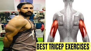Best Tricep Exercises for Bigger Arms -Asfhan Raja Fitness!Complete Tricep Gym Workout