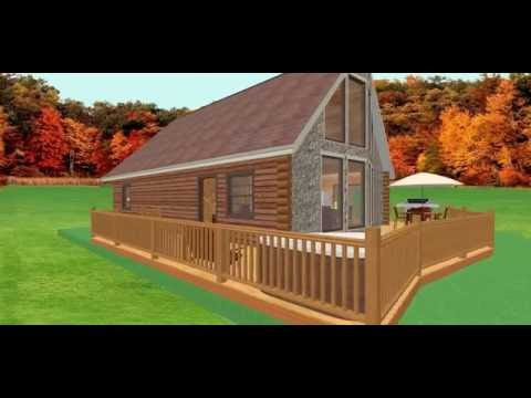 Conestoga Log Cabin Kit Tour – 26′ x 39′ Alpine Ridge with 3 BR | 2 BA | 1,498 SQF