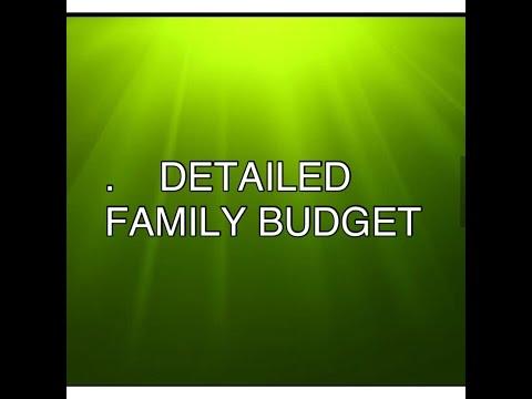FAMILY BUDGET: HOW I BUDGET