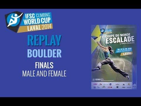 IFSC Climbing World Cup Laval 2014 - Boulder - Finals - Men/Women