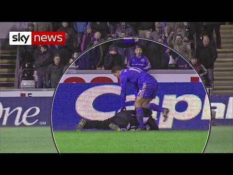 Eden Hazard Kicks Ballboy At Swansea V Chelsea Match