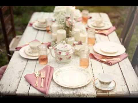 Simple Vintage Wedding Table Decorating Ideas