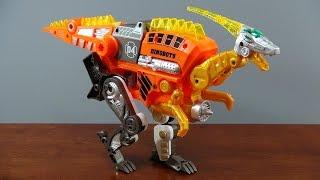 恐竜ロボからピストルに変形! 更に、NERFのようにスポンジ弾を発射...