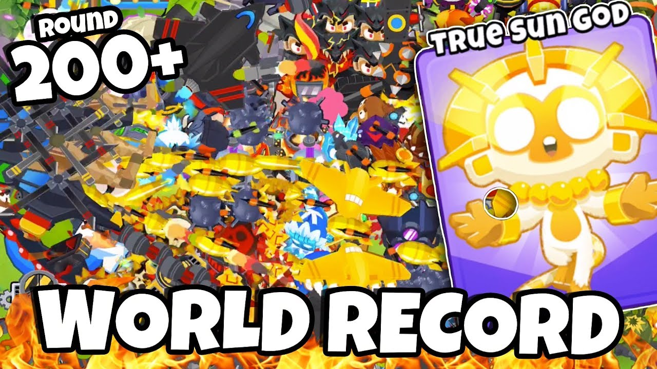 200+ ROUND WORLD RECORD *LATE GAME* - BTD 6 Highest Round Ever (UNBEATABLE  STRATEGY)!