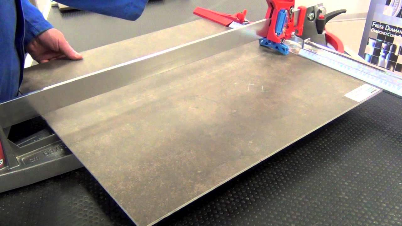 Cutting Porcelain Tile 4mm With Manual Tile Cutter Youtube