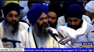 Bhai Manpreet Singh Ji kanpuri Akhand Kirtan Akj Vaisakhi Samagam 12 march 2016