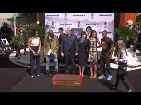 Vin Diesel Speech & Handprint-Footprint Ceremony at Chinese Theater - Furious 7 Premiere