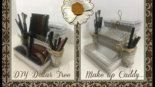 DIY Dollar Tree 3 tier make up Caddy, Organizer, Storage...