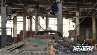 Tony Hawk Skates the Warehouse from #THPS 1+2 ... In Real Life