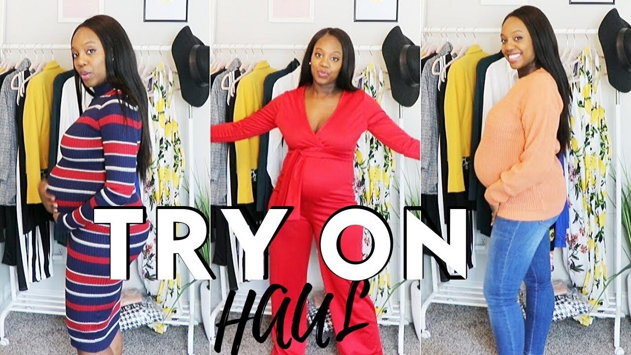 [VIDEO] - STYLISH WHILE PREGNANT| Fall Clothing Try On Preggers Edition 1