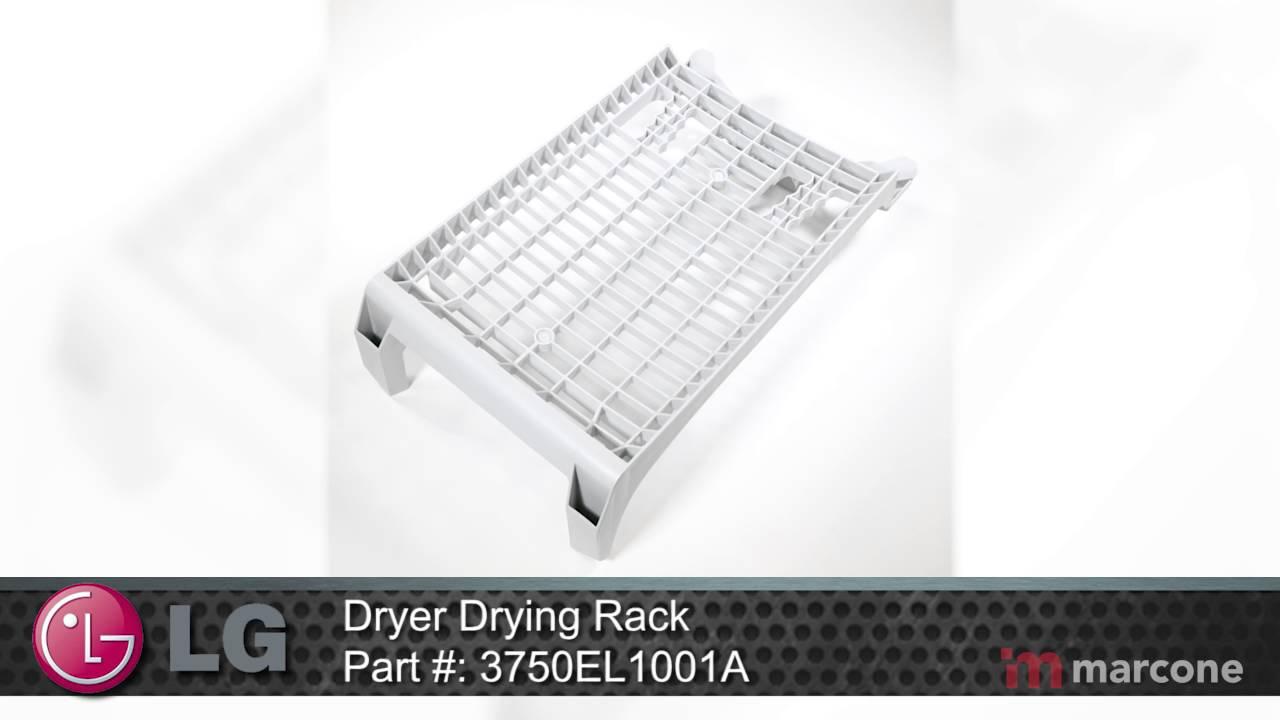 Lg Dryer Drying Rack Part 3750el1001a Youtube