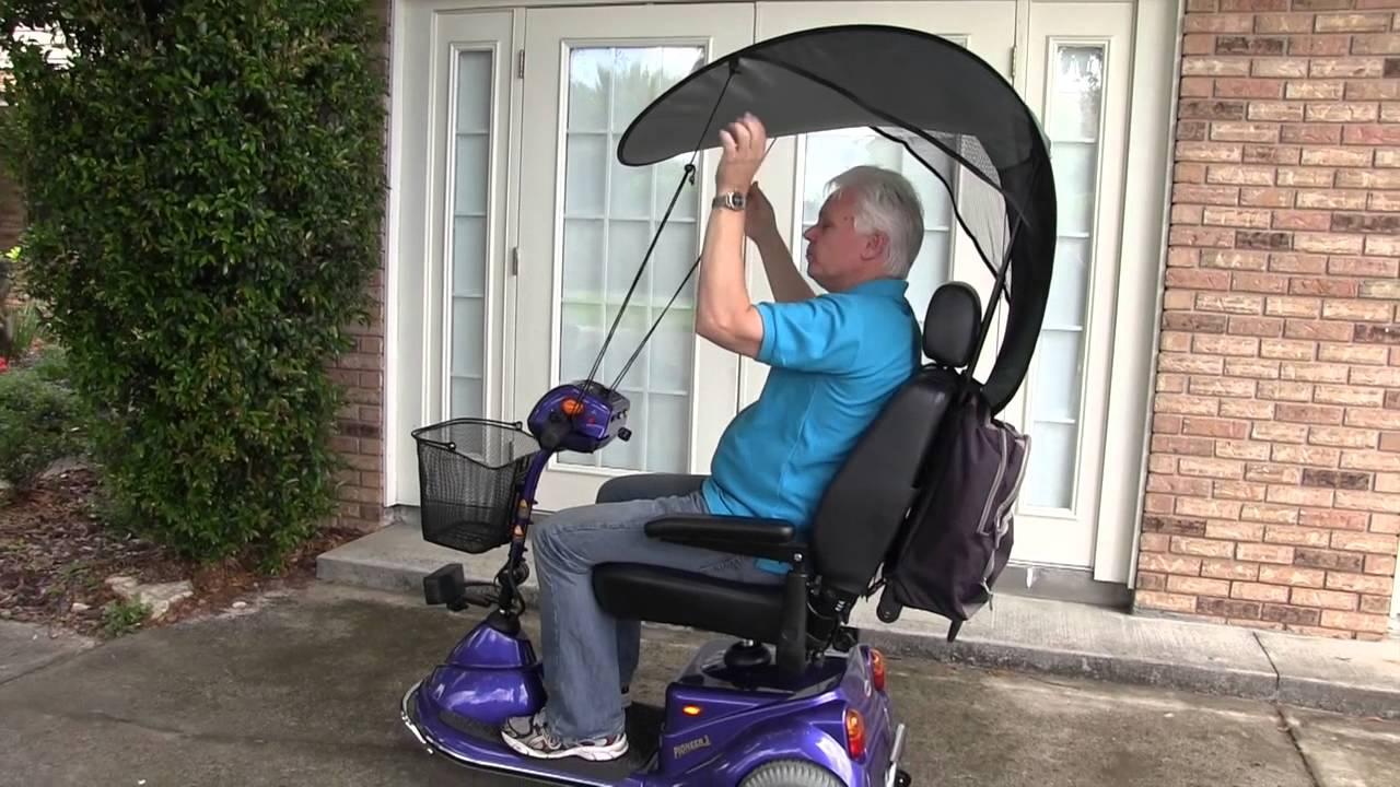 Wonderful Orlando Scooter Rental Portable Sunshade   YouTube