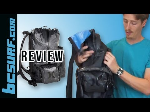 Hurley Dry Pack Backpack Waterproof Review - BCSurf.com - YouTube 8ba10d357e451