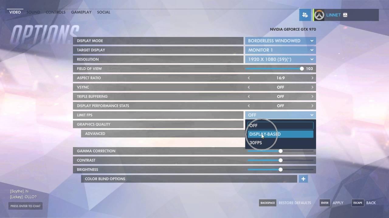 How to Cap FPS In Overwatch