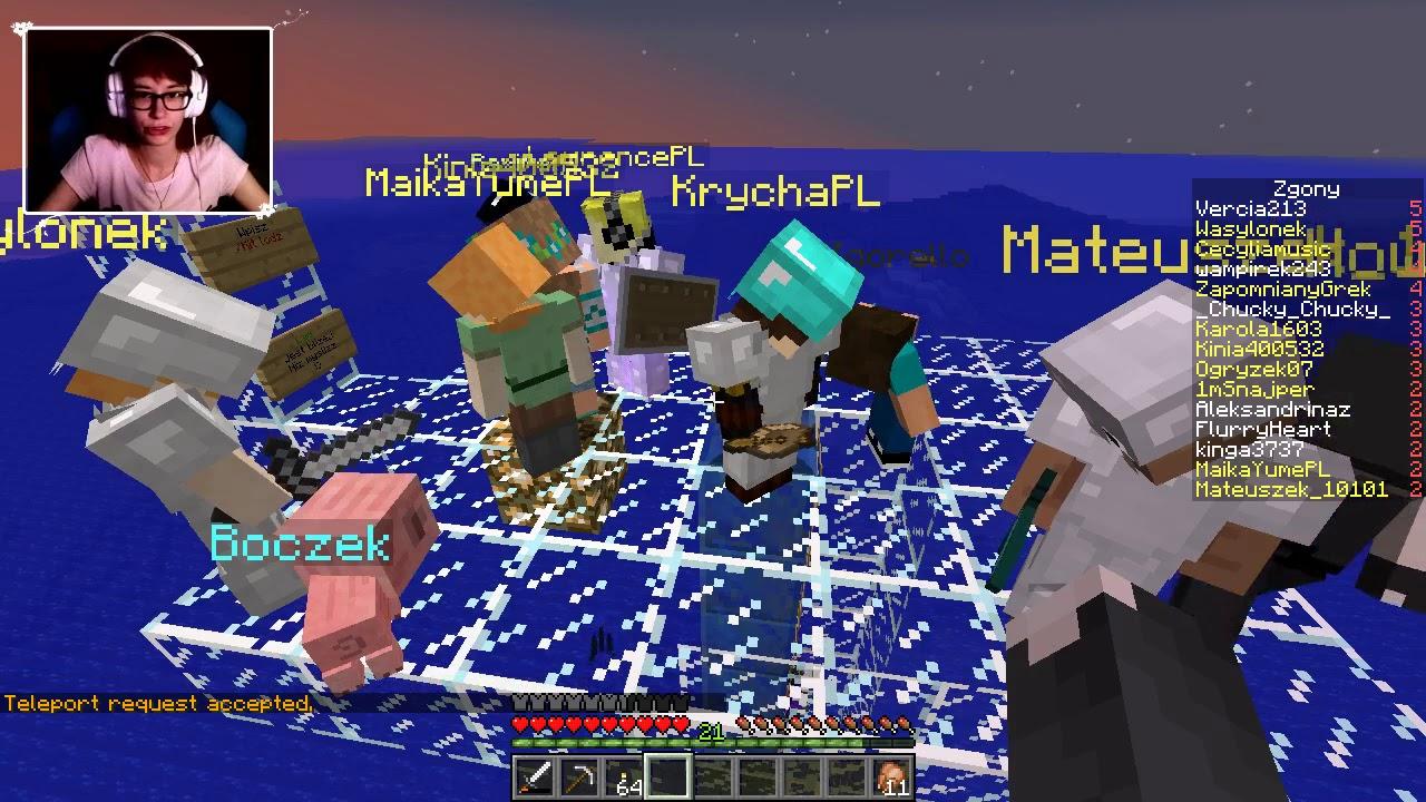 """[Archiwum] Live – Minecraft Serwer z Howardem (1) – [2/3] – """"Do lądu daleko"""""""