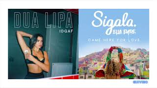 Download IDGAF - Dua Lipa  Sigala Remix (Came Here For Love Mashup) MP3 song and Music Video
