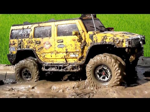 scale-model-off-road-mud-&-water-barrier---jeep,-hummer,-defender