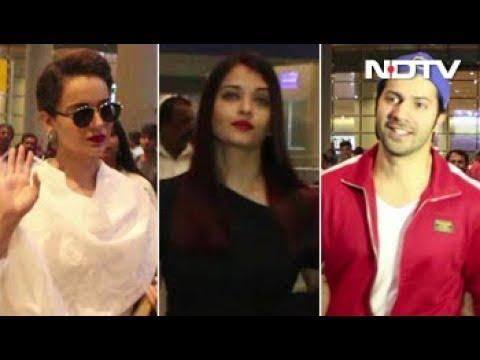 Spotted! Varun, Kangana, Abhishek & Aishwarya At Mumbai Airport Mp3