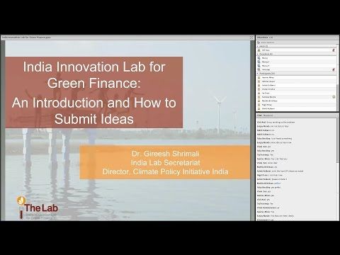 Introduction to the India Innovation Lab for Green Finance webinar