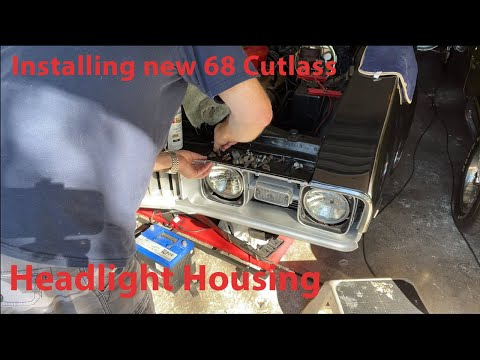 Installing 1968 Oldsmobile Cutlass Headlight Housing