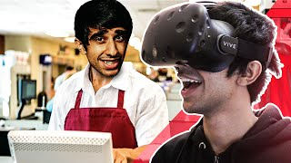 IM A STORE CLERK! - VIRTUAL REALITY on HTC VIVE - (Job Simulator)