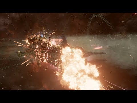 Chaos (Nurgle Fleet) vs Imperial Navy! Rank 89 - Battlefleet Gothic Armada