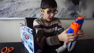 NERF GUN  UNBOXING. SUPER FUN TIME