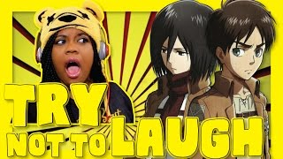 Attack On Titan in 9 Minutes | Try Not To Laugh | AyChristene Reacts