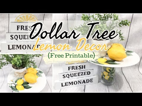 LEMON KITCHEN DECOR | DOLLAR TREE DIY