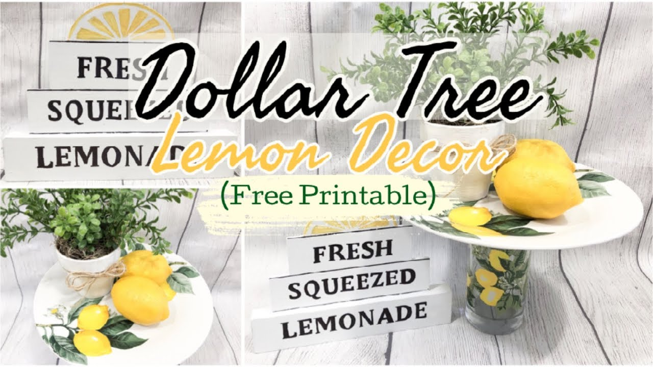 LEMON KITCHEN DECOR  DOLLAR TREE DIY