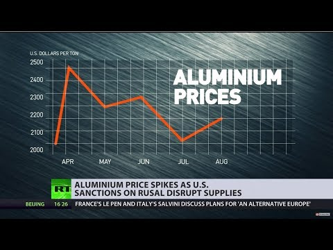 Aluminium price spikes as US sanctions on Rusal disrupt supplies