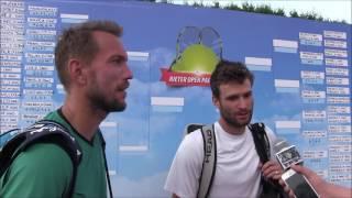 Jan Mertl a Marek Michalička po prvním kole deblu na turnaji Futures v Pardubicích