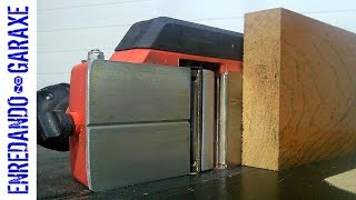 How to plane a board wider than the planer knives