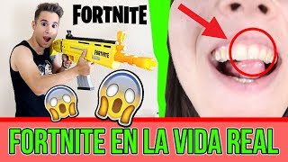 😱 WE PLAY FORTNITE IN REAL LIFE! - NATALIA A DIENT is BROKEN 😰