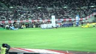 2010年9月7日 日本代表VSグアテマラ代表 国歌斉唱の一部始終.