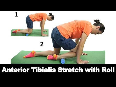 Anterior Tibialis Stretch with Roll Ask Doctor Jo