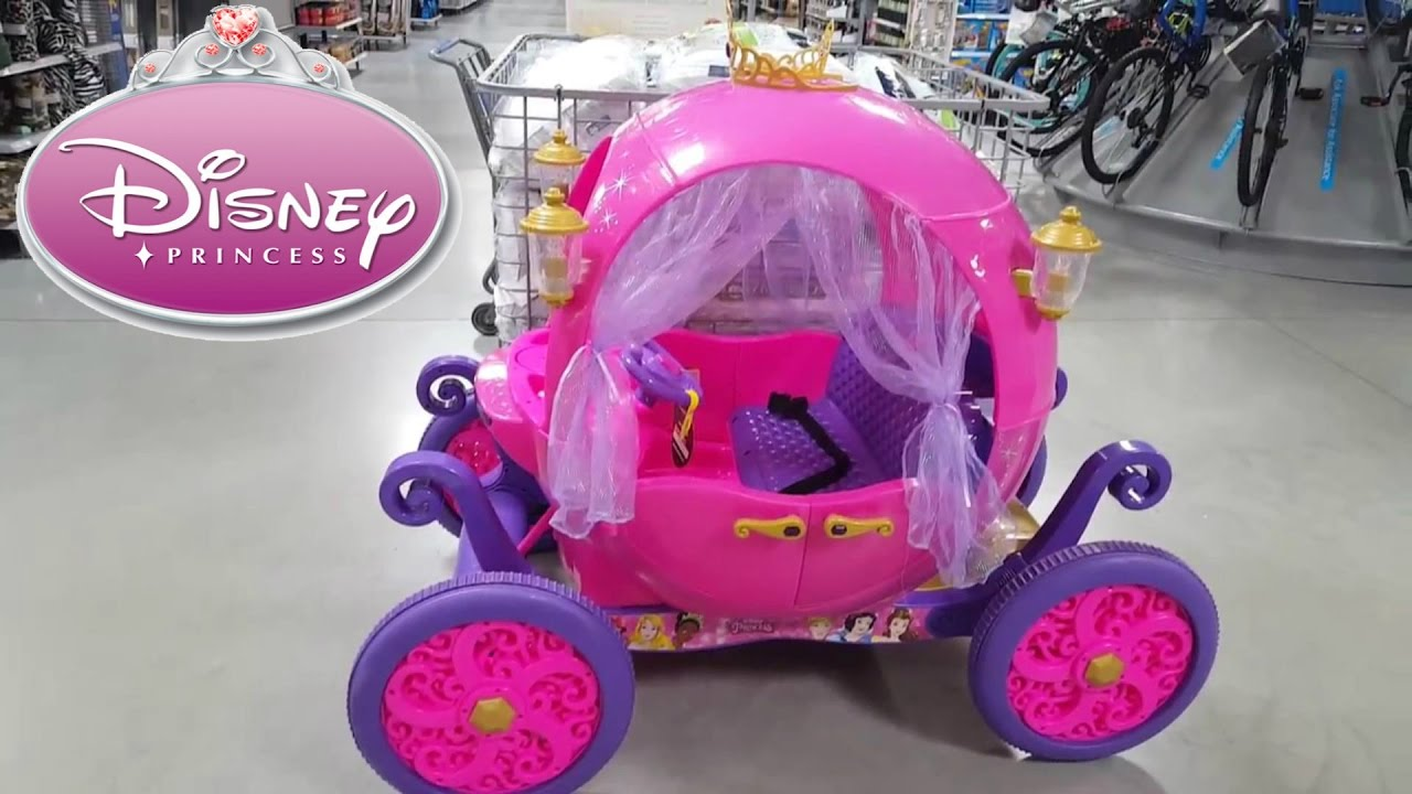 24v Disney Princess Carriage Ride On Powerwheels Dynacraft