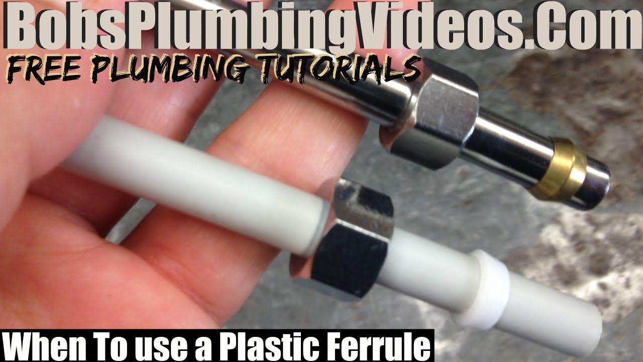 Leaking Compression Tube / When to Use Plastic Ferrules - YouTube