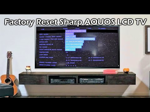 Factory Reset Sharp Aquos LCD TV