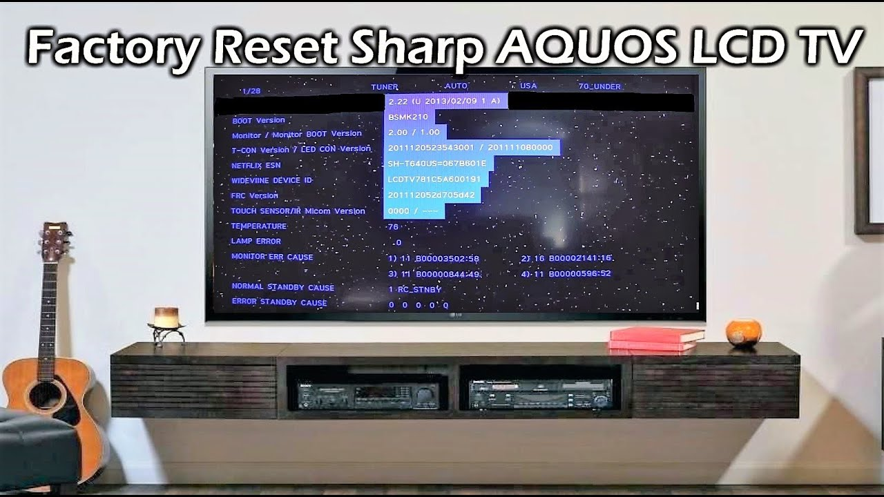 Factory Reset Sharp Aquos Lcd Tv 70 Youtube