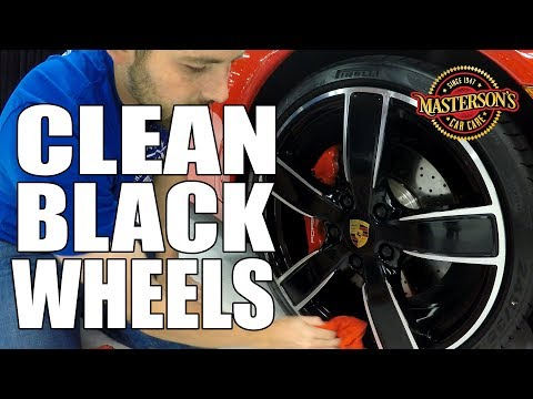 How To Clean Black Wheels & Rims - Masterson's Car Care