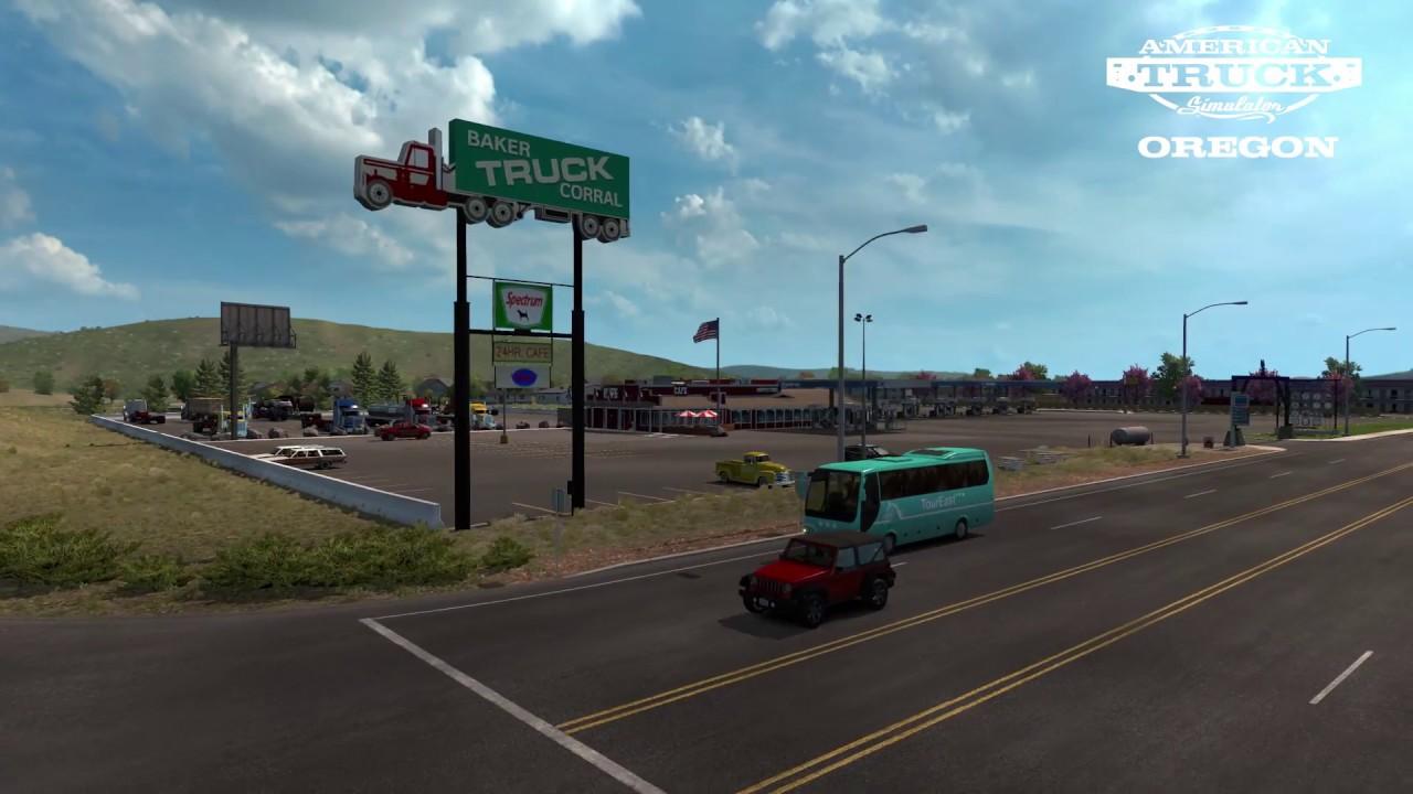 american truck simulator oregon trailer youtube