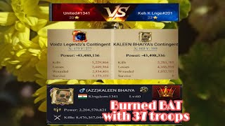 Clash of kings - Kingdom conquest k1341 vs k201 🔥