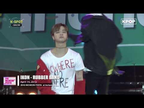 180414 IKON - RUBBER BAND At Incheon Festa K-Pop Concert